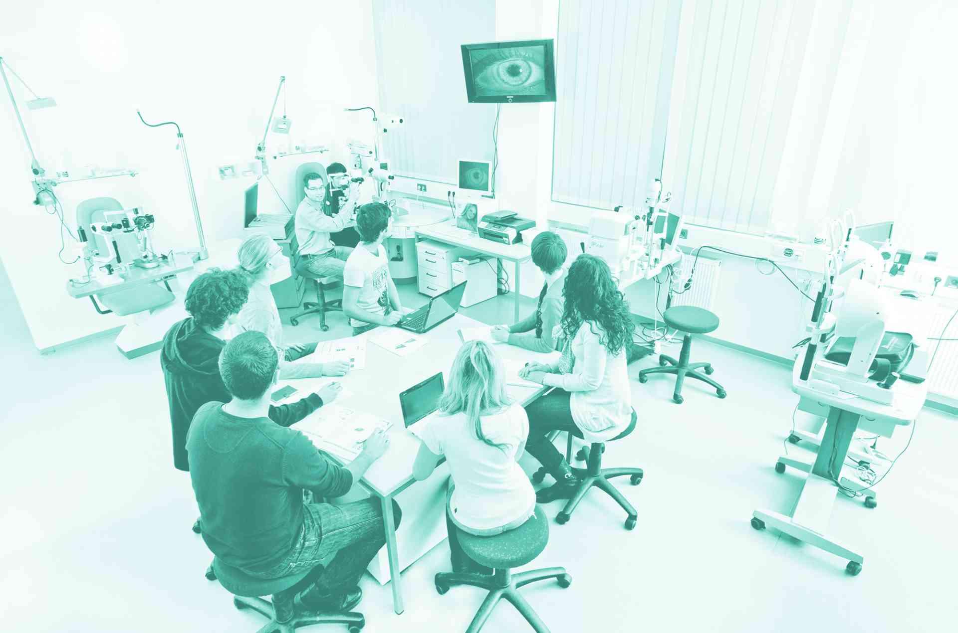 Kontaktlinse Labor Test Prüfung Parametertest
